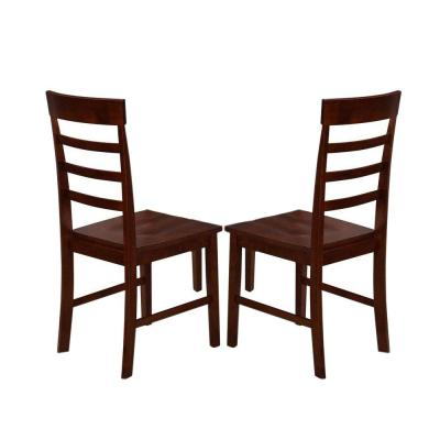 Springfield Solid Rubberwood Dining Chair in Antique Oak (Set of 2)