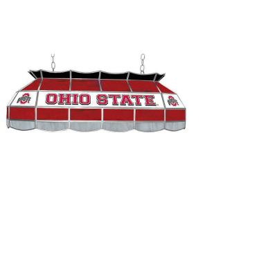 Trademark Global The Ohio State 40 in. Stained Glass Tiffany Light LRG4000WH-OSU