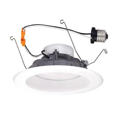6 in. White Recessed LED High Ceiling Light with Magnetic Trim