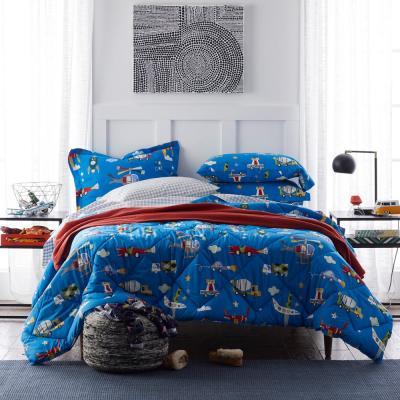 Transportation Graphic Organic Cotton Percale Comforter