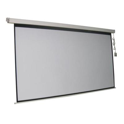 ProHT 120 in. Electric Projection Screen with White Frame Product Photo