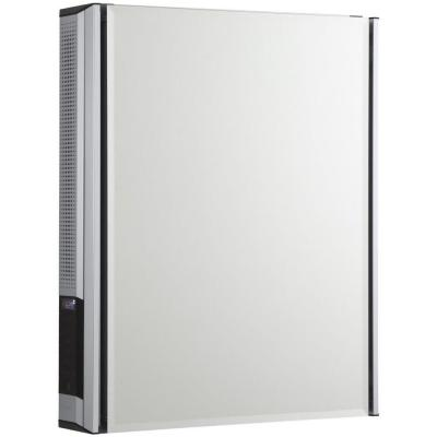 20 in. x 26 in. Surface-Mount Medicine Cabinet with Mirrored Door and StereoStik Product Photo