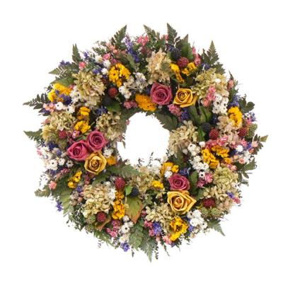 The Christmas Tree Company Petals and Pomes 18 in. Dried Floral Wreath