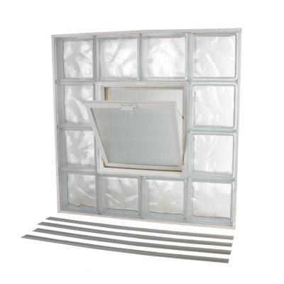 Glass Block Window Wave Pattern Vented NailUp2
