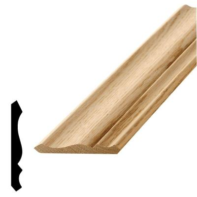WM 49 1-9/16 in. x 3-5/8 x 96 in. Wood Red Oak Crown Moulding Product Photo