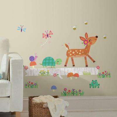 5 in. x 19 in. Woodland Baby Animal Log Peel and