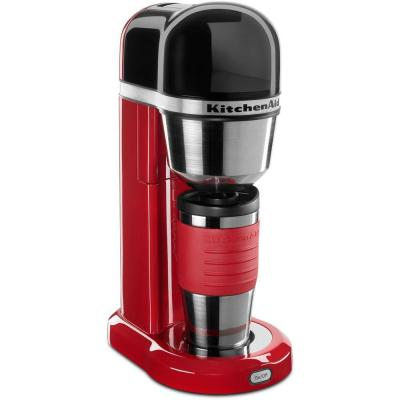 4-Cup Coffee Maker with Multifunctional Thermal Mug in Empire Red