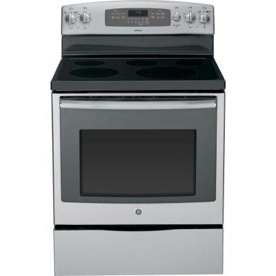 GE 5.3 cu. ft. Electric Range with Self-Cleaning Oven and Convection in Stainless
