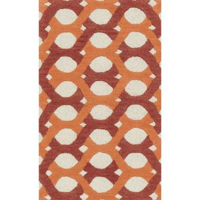 Weston Lifestyle Collection Red/Orange 2 ft. 3 in. x 3 ft.