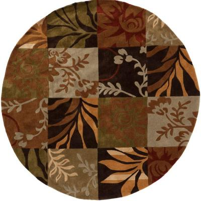 Artistic Weavers Equinox Rust/Green 8 ft. x 8 ft. Round Area Rug