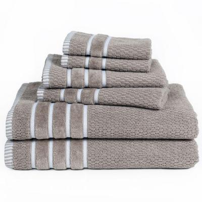 6-Piece 100% Cotton Rice Weave Towel Set