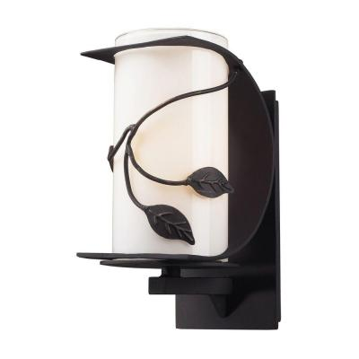 Titan Lighting Hedera Outdoor Weathered Charcoal Wall Sconce-DISCONTINUED