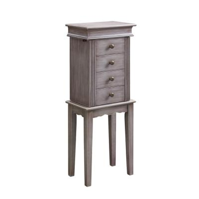 Linda Jewelry Armoire in Gray