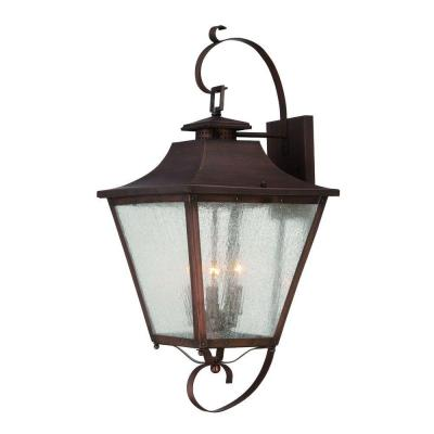 collection wall mount 3 light outdoor copper patina light fixture
