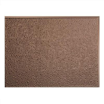 Fasade 24 in. x 18 in. Hammered PVC Decorative Backsplash Panel in Argent Bronze