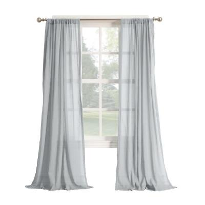 No. 918 Millennial Henderson Gray Cotton Gauze Curtain Panel Product Photo