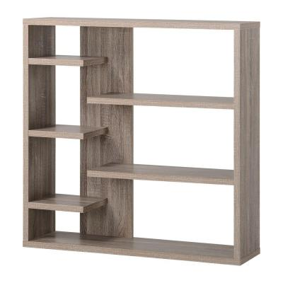 6-Shelf Decorative Storage Bookcase in Reclaimed Wood Product Photo