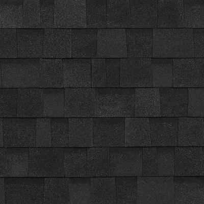 Oakridge Onyx Black Laminate Shingles (32.8 sq. ft. per Bundle) Product Photo