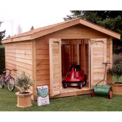 Star Lumber 8 ft. x 12 ft. Cedar Storage Shed-DISCONTINUED