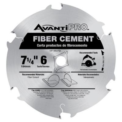 Avanti Pro 7-1/4 in. x 6-Tooth Fiber Cement Cutting Saw Blade