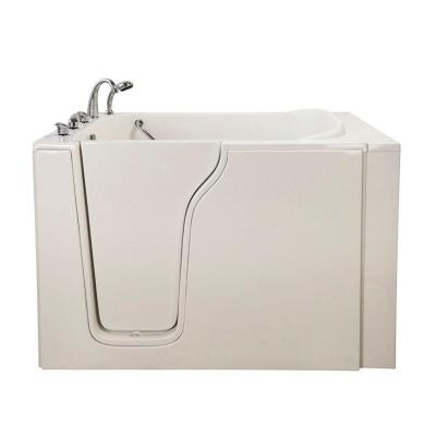 Bariatric 33 4.58 ft. x 33 in. Walk-In Whirlpool Bathtub in White with Left Drain/Door Product Photo