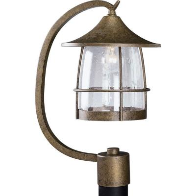 Prairie Outdoor Burnished Chestnut Post Lantern Product Photo