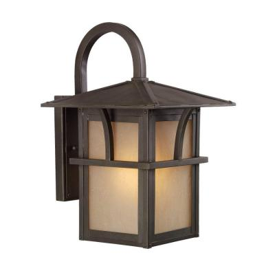 Sea Gull Lighting Medford Lakes 1-Light Statuary Bronze Outdoor Wall Fixture