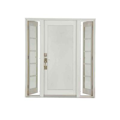 Pro Series White 10 Lite Painted Pine Prehung Front Door with Venting Sidelites Product Photo