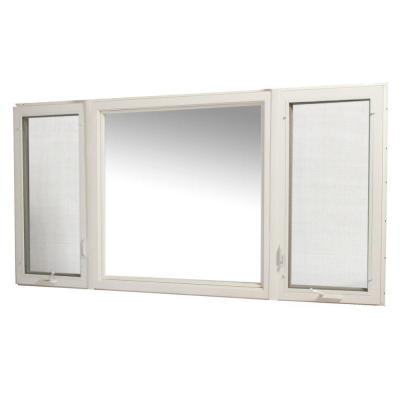 TAFCO WINDOWS 95 in. x 48 in. Vinyl Casement Window with Screen - White