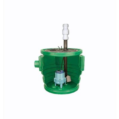 Pit Plus 0.4 HP Jr. Bolt-On Flanges/2-Piece Structural Foam Cover Sewer Package Pump System Product Photo