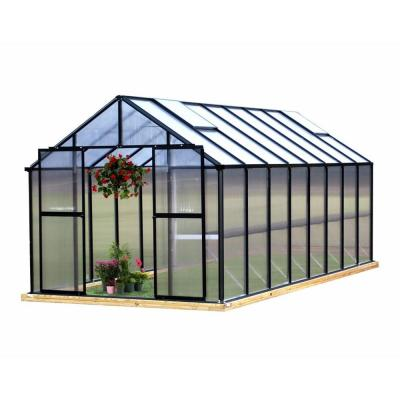 Monticello 8 ft. x 16 ft. Black Greenhouse