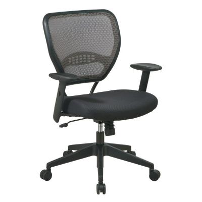 Office Star Deluxe AirGrid Back Managers Chair in Black