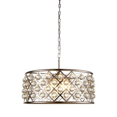 Madison 6-Light Polished Nickel Royal Cut Crystal Clear Pendant