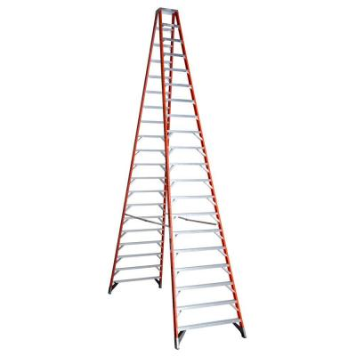 20 ft. Fiberglass Twin Step Ladder with 300 lb. Load Capacity