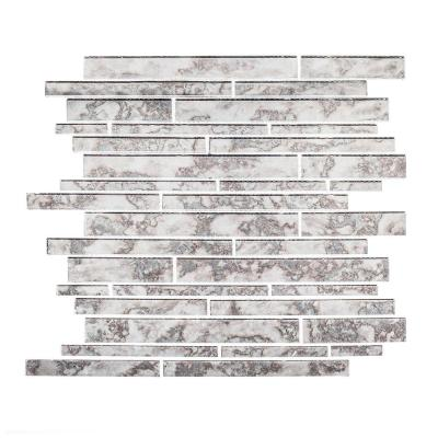 Wilshire 11-7/8 in. x 12-3/8 in. x 5 mm Glass Mosaic