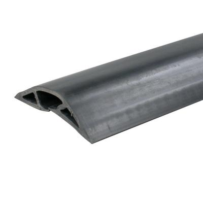 wiremold 1 2 in x 15 ft corduct over floor cord protector black cdbk 15 the home depot. Black Bedroom Furniture Sets. Home Design Ideas