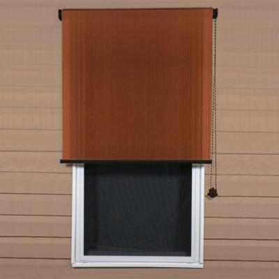 Coolaroo terracotta exterior roller shade 48 in w x 72 - Exterior sun blocking window shades ...