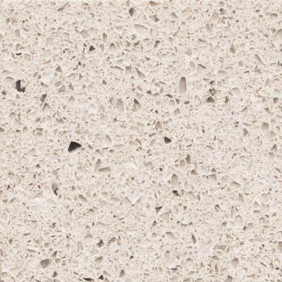 2 in. Quartz Countertop Sample in Stellar Snow Product Photo