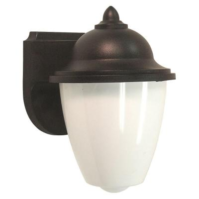 Sea Gull Lighting Lormont 1-Light Outdoor Black Wall Fixture