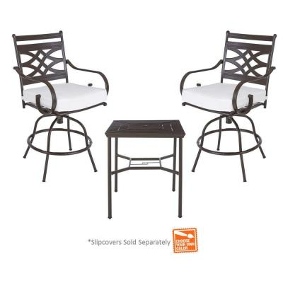 middletown 3 piece motion high patio dining set with cushion insert