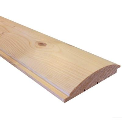 144 In Wood Spruce Log Cabin Siding 41136 The Home Depot