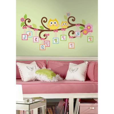 null 18 in. x 40 in. Scroll Tree Letter Branch 98-Piece Peel and Stick Giant Wall Decal