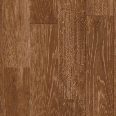 12 ft. Wide Bristol Haven Oak Gunstock Vinyl Sheet Flooring