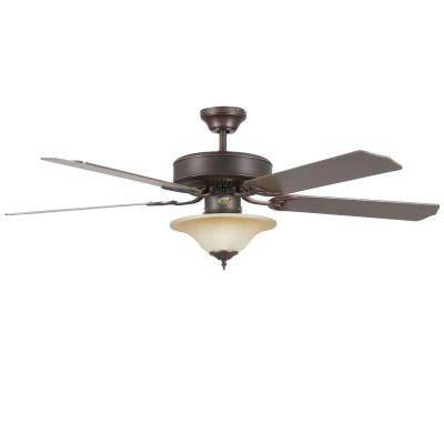 Heritage Square 52 in. Indoor Oil Rubbed Bronze Ceiling Fan