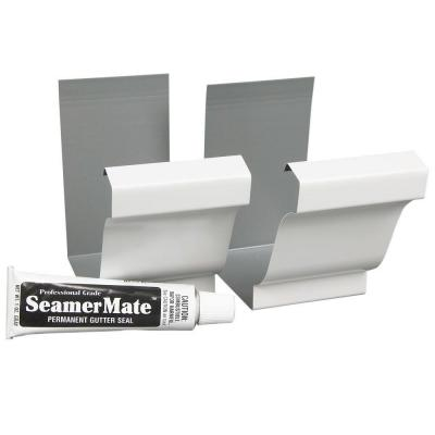 Amerimax Home Products 6 In White Gutter Seamers 2 Pack