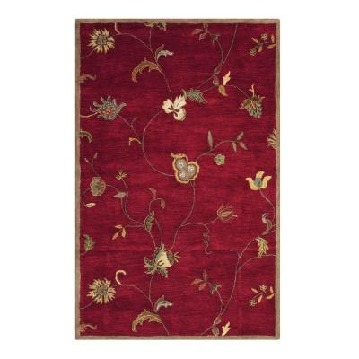 Home Decorators Collection Lenore Red 3 ft. x 5 ft. Area Rug