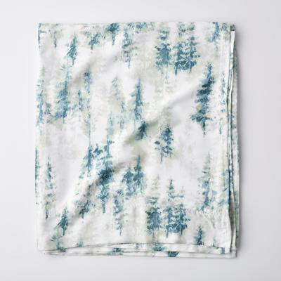 Winter Spruce Graphic 300-Thread Count TENCEL™ Lyocell Flat Sheet