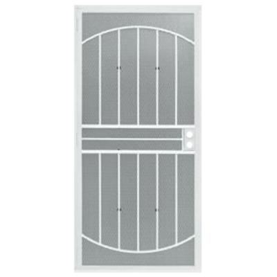 36 in. x 80 in. 555 Series Tuscany White Steel Prehung Security Door Product Photo