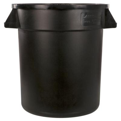 Bronco 32 Gal. Black Round Outdoor Trash Can (4-Pack)