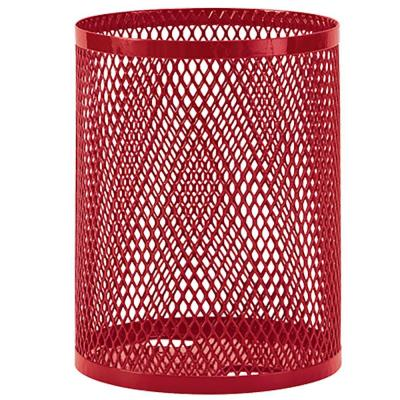 Portable 32 Gal. Red Diamond Commercial Trash Can
